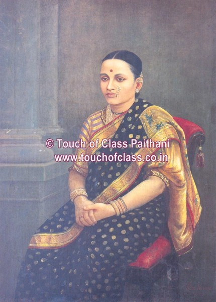 Ravi Verma Painting Potrait of a Royal Woman